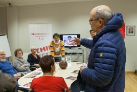 Irureta en la Residencia de ancianos Txurdinagabarri de Bilbao