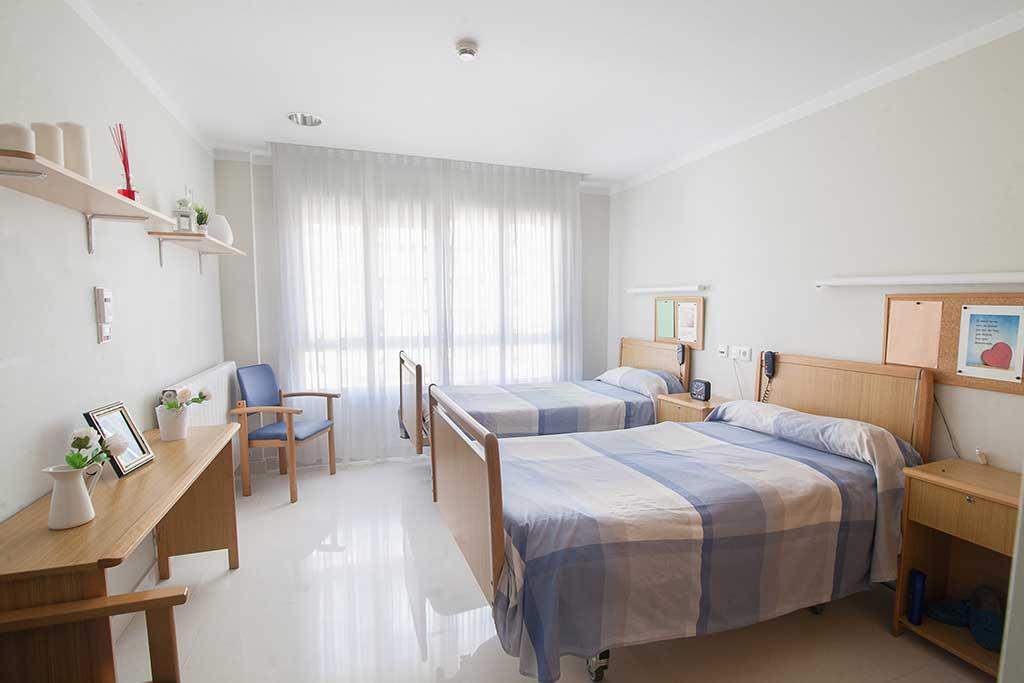 Habitación doble de la Residencia de Ancianos Txurdinagabarri