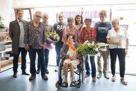 Centenaria en la Residencia Barandiaran de Durango