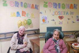 Cumpleaños en la Residencia de mayores Aita Menni de Arrasate