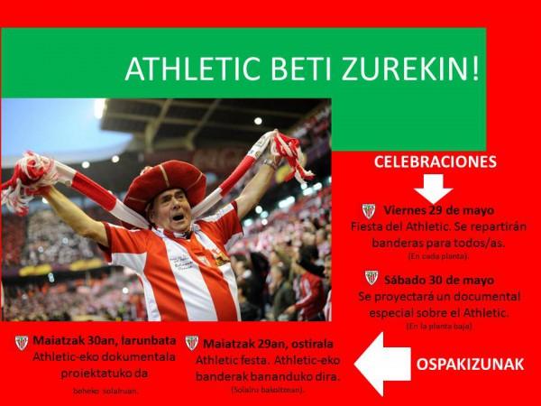 Cartel de actividades relacionadas con el Athletic