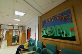Una de las salas del Centro de Día para ancianos Aita Menni de Deusto (Bilbao)