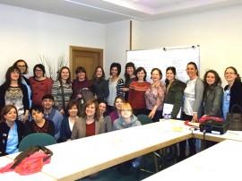 Profesionales de Residencias y Centros de Día de personas mayores de Aita Menni que han tomado parte en un curso sobre gestión de conflictos en organizaciones sanitarias