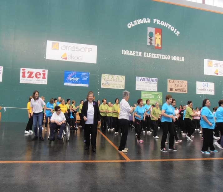 Encuentro de Gimnasia de Personas Mayores del Duranguesado