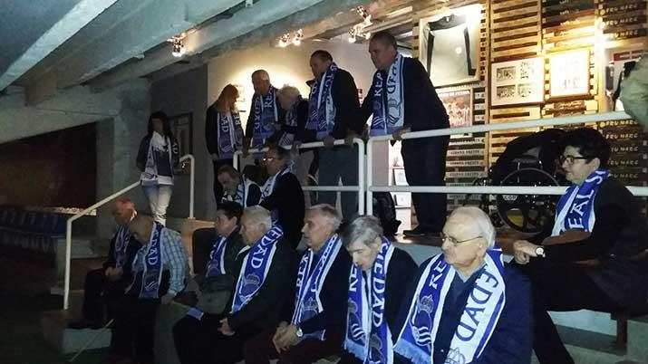 Visita a Anoeta del Taller de Reminiscencia basada en el Fútbol de Aita Menni