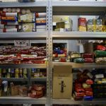 Almacén de alimentos para refugiados en Grecia