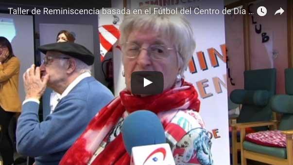 Taller de reminiscencia basada en el fútbol del Centro de Día de personas mayores Aita Menni de Deusto