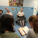 Lectura en la Residencia de Ancianos de Durango