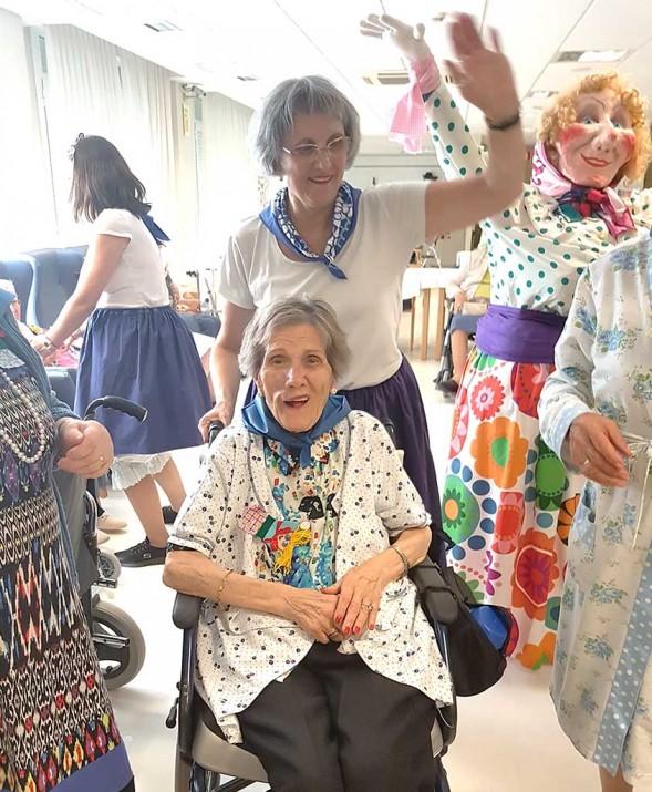 Marijaia, en la Residencia de personas mayores Txurdinagabarri de Bilbao
