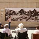 Dibujo de Inés Larrinaga en la Residencia de Mayores de Durango