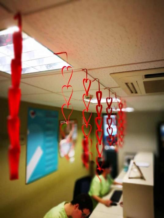 San Valentín en la Residencia y Centro de Día de Ancianos Txurdiagabarri de Bilbao