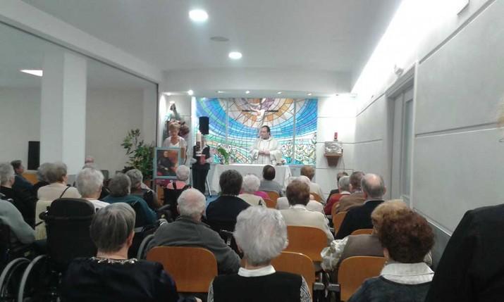 Eucaristía en la Residencia de ancianos Santiago de Villabona, GIpuzkoa
