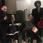 Con el guitarrista del Vicente Espí Quartet
