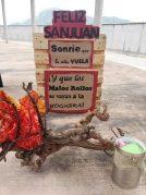Sanjuanada en la azotea de la Residencia de mayores Txurdinagabarri