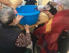 Fiesta en la azotea de la Residencia Txurdinagabarri
