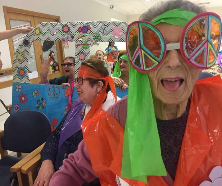 Carnaval en la Residencia de personas mayores Txurdinagabarri de Bilbao
