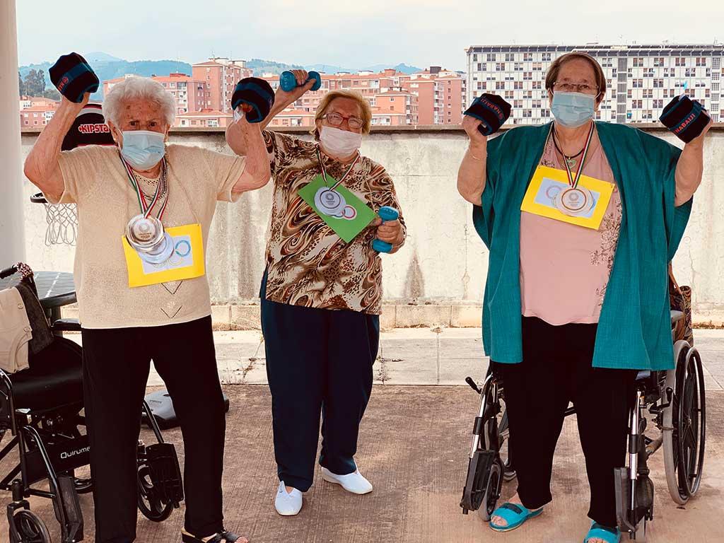 Olimpiadas en la Residencia de mayores Txurdinagabarri de Bilbao