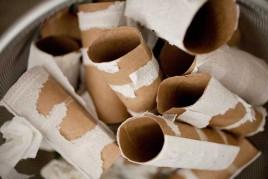 Rollos de papel higiénico. Ilustración de artículo sobre la diarrea en las personas mayores.